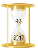 Hour glass 2013 — Vector de stock