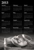 Baby skor kalender 2013 — Stockfoto