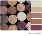 Wine corks palette — Stock Photo
