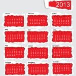 Torn paper calendar 2013 — Stock Vector #12608310