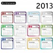 Vector de stock : Birtstone calendar 2013