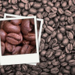 Stock Photo: Coffee beans polaroid
