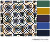 Alhambra Tile Palette — Stock Photo
