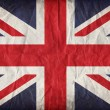 Vintage paper Union Jack - Stock Photo