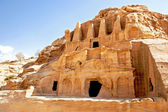 Petra cave dwellings — Stock Photo