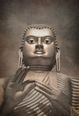 Giant Gold Buddha vintage — Stock Photo