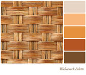 Wickerwork palette — Stock Photo