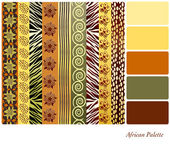 African palette — Stock Vector