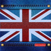 Union Jack denim — Stock Vector