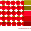 Strawberry candy palette — Stock Photo