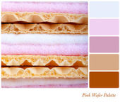 Pink wafer palette — Stock Photo
