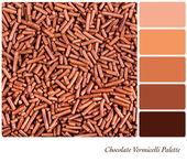 Палитра шоколад вермишель — Стоковое фото