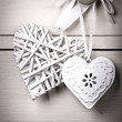 Vintage hearts — Stock Photo