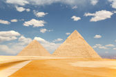 Two pyramids, Giza — Stock Photo