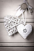 Vintage hearts — Stock Photo