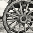 Stock Photo: Old wagon wheels
