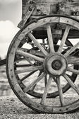Old wagon wheels — Stockfoto