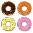 Stock Vector: Donut set