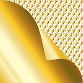 Gold sticky Valentine note — Stock Vector