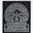 Mount Snowdon sign - Stockfoto