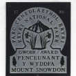 Mount Snowdon sign - Stock Photo