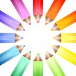 Colour wheel pencils — Stock Vector