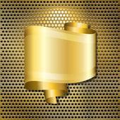 Goldenspeech bubble — Stock Vector