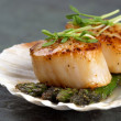Stock Photo: Seared scallops