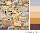 Dry Stone Wall Palette — Stock Photo