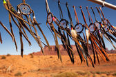 Dreamcatchers in a breeze, Monument Valley, Utah, USA. Intentional shallow depth of field. — Stock Photo