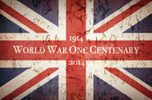 World War One Centenary Union Jack — Stock Photo