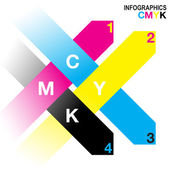 CMYK Infographics — Vetorial Stock
