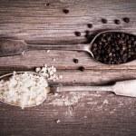 sůl a pepř vinobraní — Stock fotografie
