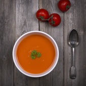 Tomato soup vintage — Stock Photo