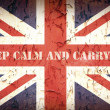 Keep calm Union Jack — Stock Photo