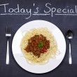 Spaghetti bolognese special — Stock Photo