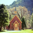 Stock Photo: Yosemite Valley Chapel lomo