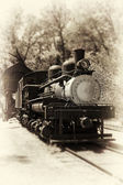 Antique locomotive — Photo