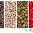 Peppercorn collage — Stock fotografie