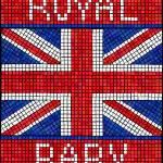 Royal baby mosaic — Stock Vector