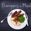 Stock Photo: Bangers and mash