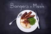 Bangers and mash — Stock Photo