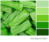 Green liqurice palette — Stock Photo