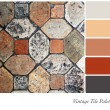 Vintage tile palette — Stock Photo