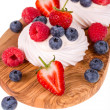 Pavlovas on olive wood board — Stock Photo