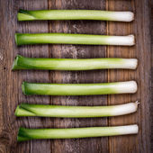 Baby leeks vintage — Stock Photo