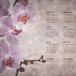 Vintage orchid calendar for 2014 — Stock Photo #31201429