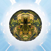 Little planet Englich countryside — Stock Photo
