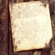 Stock Photo: Old document on wood