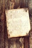Old document on wood — Stok fotoğraf
